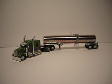DCP 1/64 GREEN & GRAY KENWORTH W900 & 72'' SLEEPER WITH BRENNER CHEMICAL TANKER