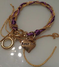 Amethyst & Gold Chains Friendship Bracelet
