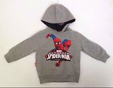 Marvel The Amazing Spider-Man Boy's Grey Graphic Hoodie Size 2 , 92 Cm NWT