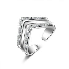 Austria Crystal Adjustment Ring Classic Loving Heart Resizable Engagement Rings