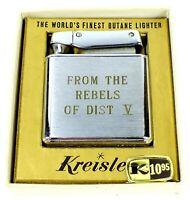 Vintage KREISLER Metal MONOGRAMMED Lighted FROM THE REBELS OF DISTRICT V R.L.M.