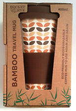 BAMBOO, Leaf Pattern, Reusable, Eco-friendly, 400ML, Coffee, Travel Mug, New