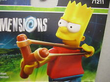 Simpsons Legos Dimensions Fun Pack Lot of 2 New Animation Collectible