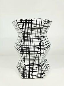Geometric Accordion Turquoise Handpainted-Black & white stool(Big sale )