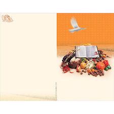 New Church Bulletin Brochure Paper (Package-100) - Thanksgiving