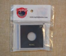 KROWN CAPITAL PLASTIC HOLDER FOR NICKELS - 2.5 x 2.5 - NO COINS - BLACK