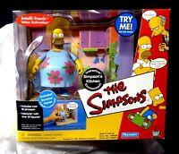 Homer Simpson Muu Muu Figure & Kitchen Playset New 2001 The Simpsons TV Amricons
