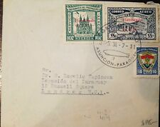 L) 1938 PARAGUAY, CHURCH OF THE INCARNATION, 102P, UPU, GREEN, POST AND TELEGRAP