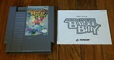 Nintendo The Adventures Of Bayou Billy Video Game W/ Manual NES Tested
