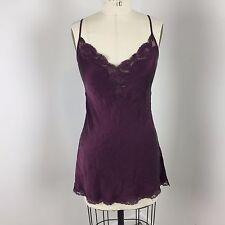Victorias Secret Womens Cami Slip Sz S Purple Lace Silk Lingerie Intimate Q35