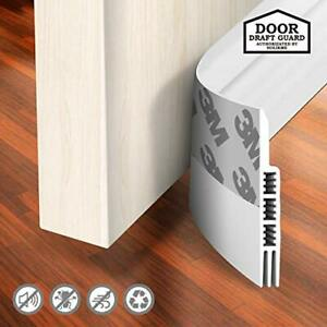 Door Draft Holikme Stopper Under Blocker White Door Molding Insulator Sweep