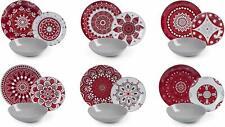 Excelsa Mandala Red Servizio piatti Multicolore (s8h)