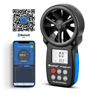 Digital LCD Anmometer Wind Speed Gauge 0.3-30m/s Anemometer Bluetooth Connect