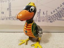 Linemar Marx Cary the Crow Mechanical Hopping Wind-up Tin Toy Japan