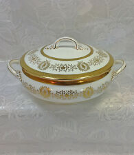 Coalport Lady Anne Gold Encrusted Covered Vegetable Bowl LOT TWO