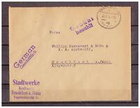 Alliierte Besetzung, Freistempel Gebühr bezahlt Frankfurt am Main 25.05.1946