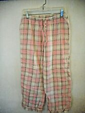 GAP BODY WOMAN'S SMALL PINK & BROWN LOUNGE PANTS  SIZE SMALL