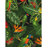 BTY TT PARROTS & Tropical Foliage Print 100% Cotton Quilt Craft Fabric by Yard