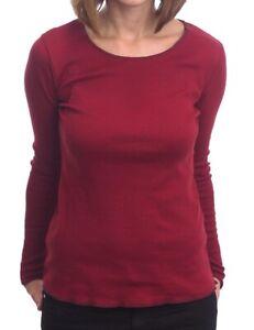 Jalfe Longsleeve rot-bordeaux geringelt, 100% Baumwolle, Größe M, L, XL