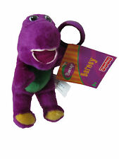 "** R@RE ** Barney 5.5"" Plush Key-Chain Clip-On BRAND NEW"