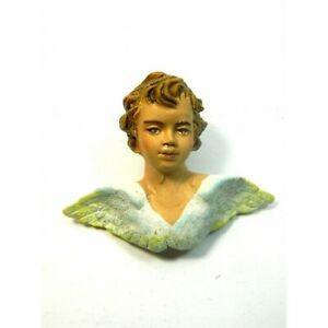 Testa d'Angelo in Terracotta  Proporzione 15/16 cm - Puttini Pastori Presepe