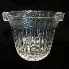 "Vintage Rare RICCADONNA HOTEL Brighton Clear Glass Ice Bucket 5.75"" High NICE"