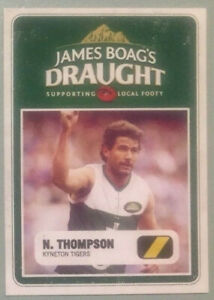 James Boags cards; Hawthorn's Nathan Thompson; Kyneton Tigers, (10 copies)