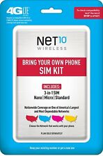 NEW  Net10 Net 10 Bring Your Own Phone SIM Activation Kit (Triple Punch) mobile