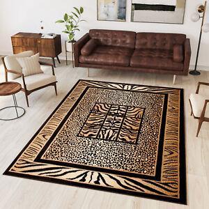 Black & Beige Small Medium Extra Large Rug Designer Carpet Animal Theme Pattern