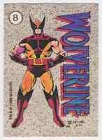 1986 Marvel Rare Sticker Set Wolverine Xmen #8