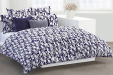 New Dkny Flowering Willow Indigo White Euro European Pillow Sham Floral Cotton