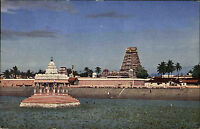 Madras Chennai Indien India AK ~1960/70 Mylapore Temple Tempel Meer Sea Building