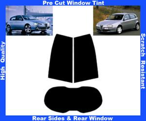Alfa Romeo 147 5D 2000-2009 Pre-Cut Window Tint 5%-50% Rear Window & Rear Sides