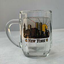 New York City Skyline Mug - Glass - With Twin Towers
