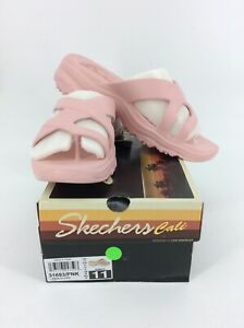 Skechers Women's Aqua D'Lites-Molded Toe-Loop Slide Flip-Flop, Pink, 11 M US