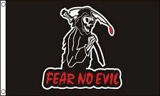 Fear No Evil Grim Reaper Flag 5'x3' Flag
