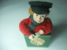 Vintage Dept. 56 wind-up Music Box  A Christmas Carol Animated Tiny Tim. Rare!