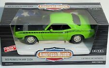 ERTL 1/18 1970 Plymouth AAR Cuda LIME GREEN Car #7379 SEALED American Muscle '70