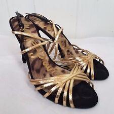 Sam Edelman Heels size 8M gold black strappy high heel Shoes Harlette