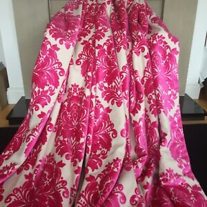 LAURA ASHLEY WOVEN CUT PILE VELVET 'LYRA' INTERLINED/LINED CURTAINS