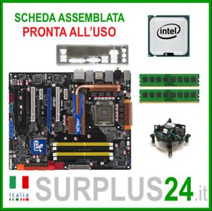 ASUS P5Q-E + Core™2 Quad Q9550 + 8GB RAM   Kit Scheda Madre 775 I/O #2144