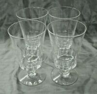 "Vtg Fostoria DOLLY MADISON Set of 4-5 1/8"" Footed Stemware Tumbler Glasses #6023"