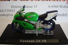 Kawasaki ZX - 7 R grün  Topmodell  1:24