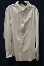 ARMANI COLLEZIONI Men Solid White L/S Button Down Shirt Size 45  18L  NWD $295