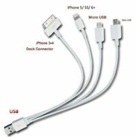NEW 4 in 1 MULTI USB CHARGER CABLE LEAD FOR iPHONE,SAMSUNG,HTC,MOTO,SONY & Other
