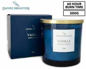 Daniel Brighton Scented Soy Candle 500g - Vanilla NEW FREE SHIPPING