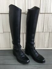 Dehners Womens Equestrian Horse Riding Field Boots 7B-T Black Leather Bal Laced