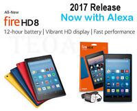 Amazon Kindle Fire HD 8 tablet 7th gen 2017 Alexa 16 32 GB Black Red Blue Yellow