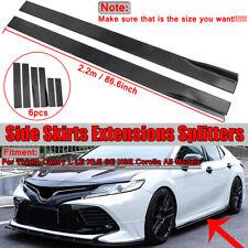 For Toyota Camry LE XLE SE Corolla Matte Side Skirt Extensions Lip Splitter 2.2M