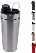 Stainless Steel Protein Shaker Bottle Insulated Keeps Hot/Cold EL0778